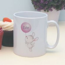Bunny with Balloon Personalised Mug - Special Personalised Christening or Baptism Gift